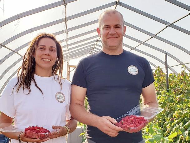 Alain Rousselle and Éva Rehak own La Ferme Alva in Saint-Maurice, north of Bouctouche.