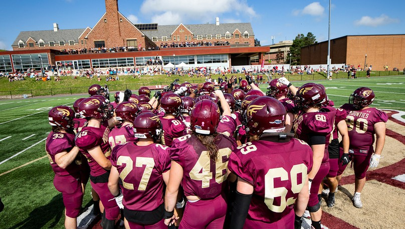 The Mount Allison Mounties visit the Bishop's Gaiters in an AUS football game on Saturday in Lennoxville, Que.