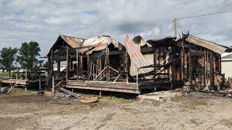 Le Pelican Beach Resto-Bar in Cocagne was destroyed by fire on Thursday.