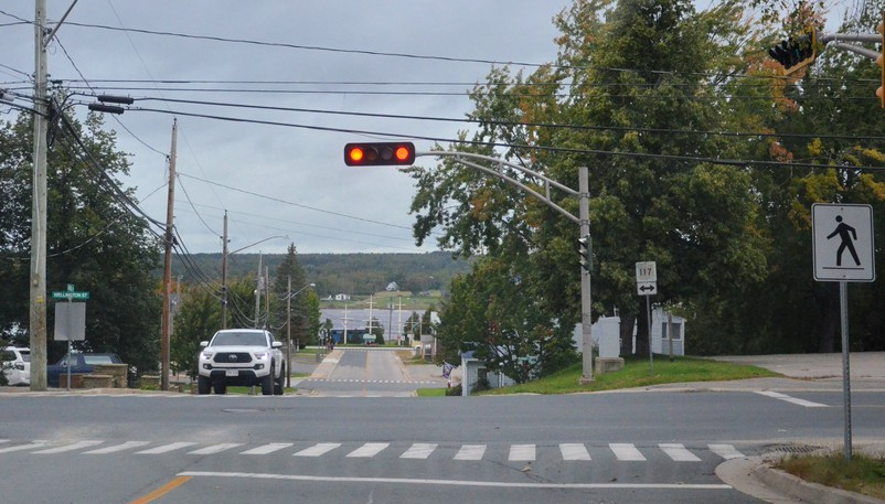 The traffic lights at the Wellington Street and King Street intersection could soon be removed and replaced with stop signs on King, pending city council's approval.