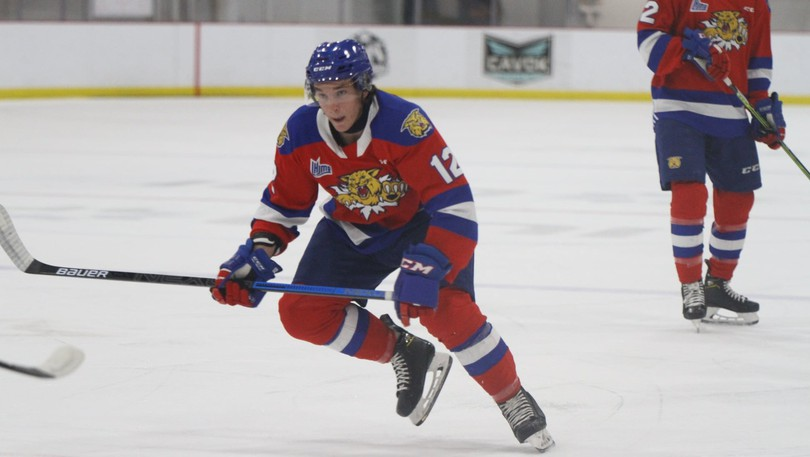 Moncton Wildcats forward Alexis Daniel of Dieppe scored a goal in a QMJHL pre-season loss to the Charlottetown Islanders on Friday.