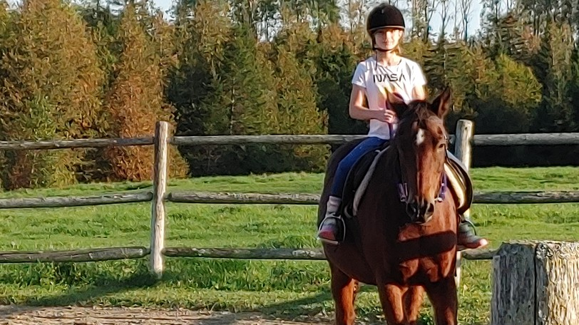 Ashley at riding lessons. As New Brunswickers grappled with the fourth wave of COVID-19, Sandra Hanson says missing what was, and worrying about what will be, will get us nowhere.