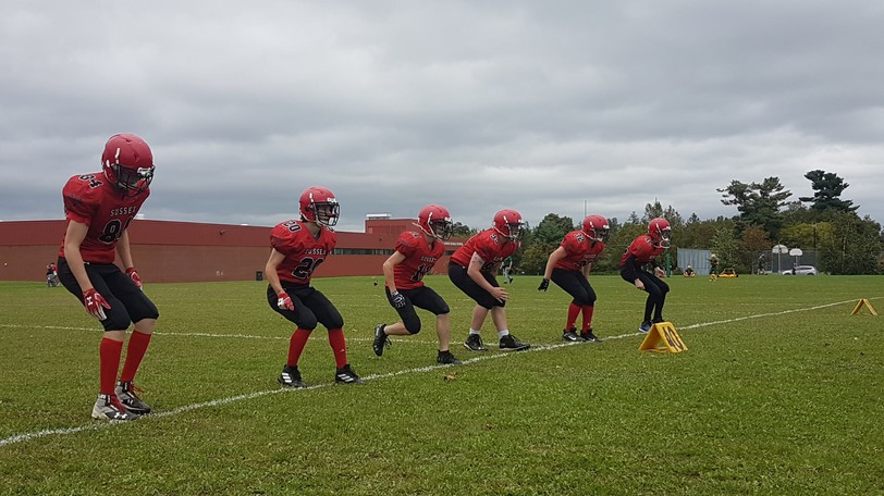 The Sussex Sonics defeated the James M. Hill Tommies 46-8 on the road in Miramichi.