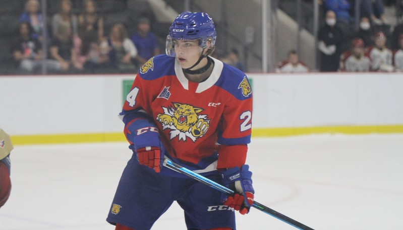Salisbury forward Preston Lounsbury scored the game-winning goal for the Moncton Wildcats in a QMJHL pre-season victory over the Charlottetown Islanders on Sunday in Bouctouche.