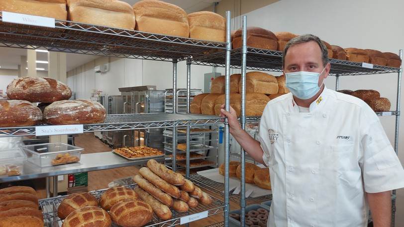Stuart Howe, of the Saint John Bakery, says he expanded his business to keep up with wholesale demands.