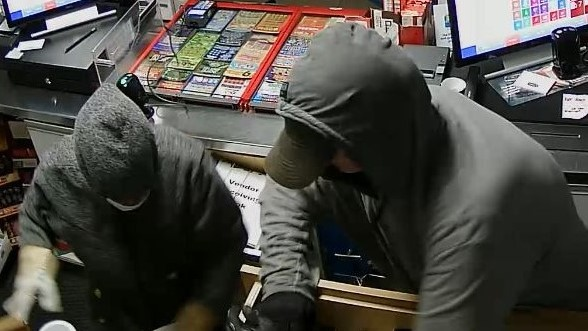 Police are looking for two suspects who allegedly broke into a Loch Lomond Road business on Friday.