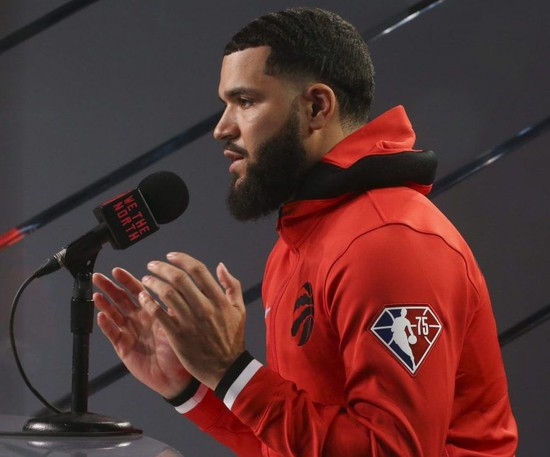 What does a post-Kyle Lowry Toronto Raptors team look like for the upcoming season? His production should be replaceable with some combination of Fred VanVleet (pictured), Goran Dragic and Malachi Flynn.