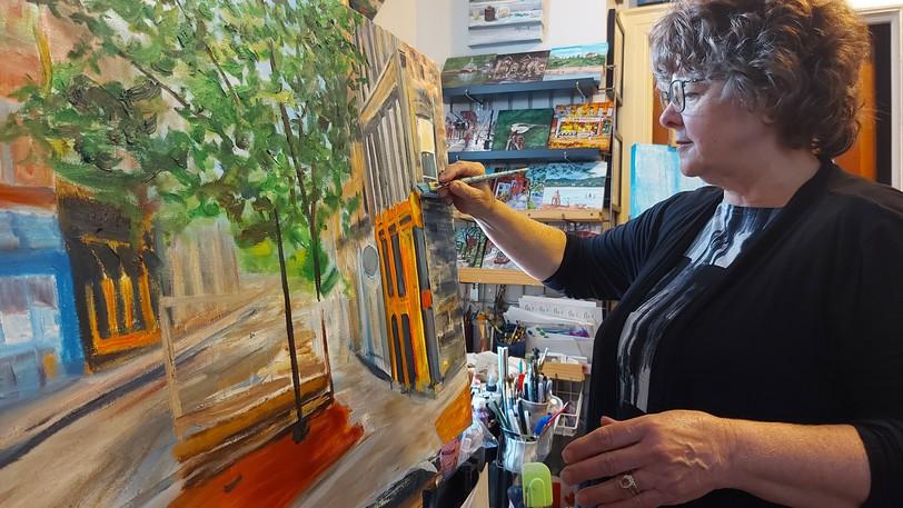 Sheila Howell set up her studio on Germain Street six years ago.