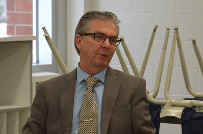 The Anglophone North School District has seen an increase in enrolment of about 300 students across the district for the 2021-2022 school year. Pictured is Superintendent Mark Donovan during a past District Education Council meeting.
