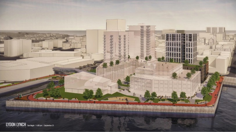 Initial renderings for the proposed Fundy Quay development.