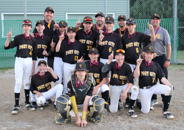 The Port City Pirates under 13 AAA baseball team captured the New Brunswick championship earlier this month. Members of the team are, front row, from left, Wilson Connors, Carson London, Hazen Mitchell, Thomas Richardson, Evan Warr; middle row, from left, Nash Daggett, Gavin Steeves, Ryan Starzomski, Will Estabrooks, Keenan Lowe, Maddox Burns and Alex Campbell and back row, from left, are coaches Jeff Warr, Paul Campbell, Ryan Connors and Mike King.