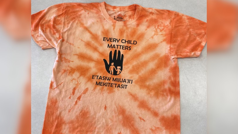 Students and staff at Max Aitken Academy and James M. Hill Memorial High School in Miramichi joined forces to produce their own orange shirts to sell to pupils and staff across Anglophone North School District for National Truth and Reconciliation Day.