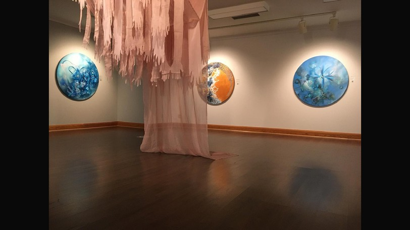 The Currents exhibit features work by Deanna Musgrave and Amy Ash.