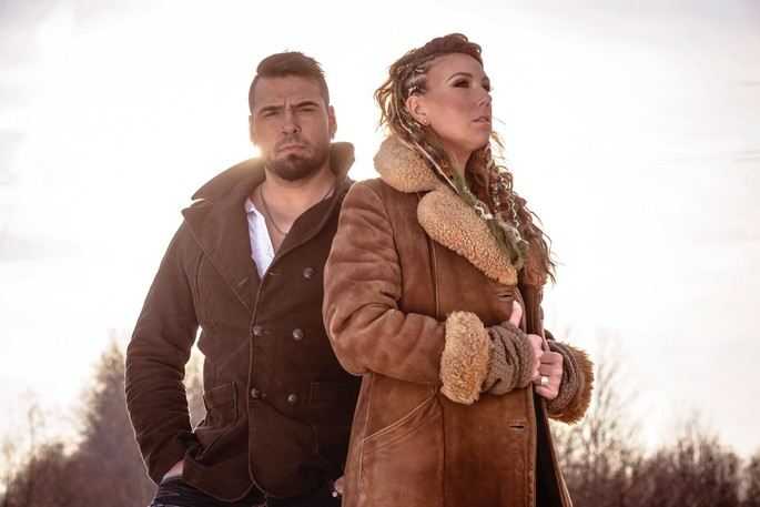 Twin Flames bring together a richness of personal history and musical experience, with Jaaji, left, who is Inuk and Mohawk, from Nunavik and Chelsey June, who is Métis, from Ottawa.