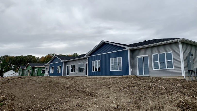 The new Atlantic Garden Homes on Otis Drive in Nackawic. Occupants of four of the buildings are moving in this week.