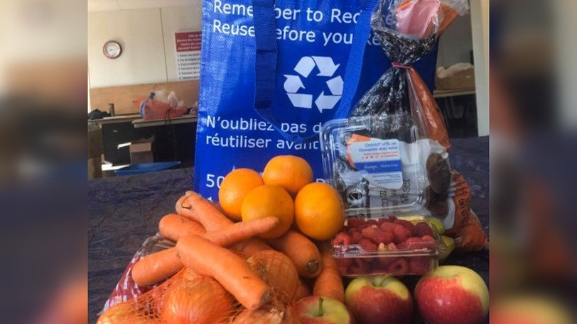 A sample of a food bag offered through the Miramichi-based Fresh for Less program, which is being relaunched.