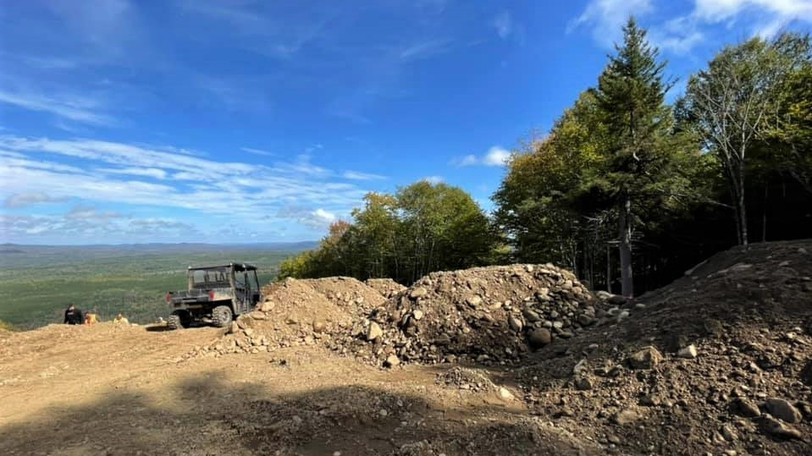 Norm's Nightmare, one of 34marked trails at Crabbe Mountain ski hill,is receiving a major facelift to bring it up to a Freestyle Canadastandard for hosting national level moguls and dual moguls events.