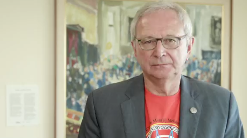 A screen grab taken from Premier Blaine Higgs's message on the National Day for Truth and Reconciliation.