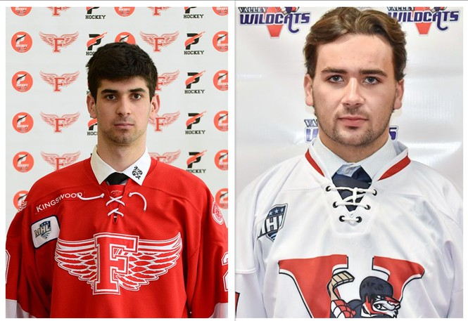 The Miramichi Timberwolves have acquired goaltender Morgan Kini, left, from the Fredericton Red Wings and forward Dylan Matthews, right, from the Valley Wildcats for future considerations.