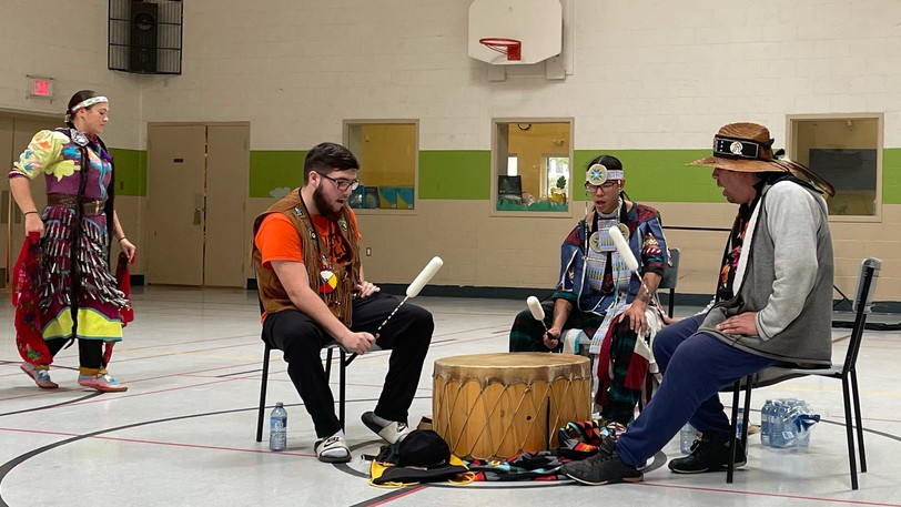 The Sacred Wolf Singers from Metepenagiag First Nation were joined by the Jingle Dress Dancers for a performance at BGC Moncton (formerly the Moncton Boys & Girls Club) to celebrating the National Day of Truth and Reconciliation.