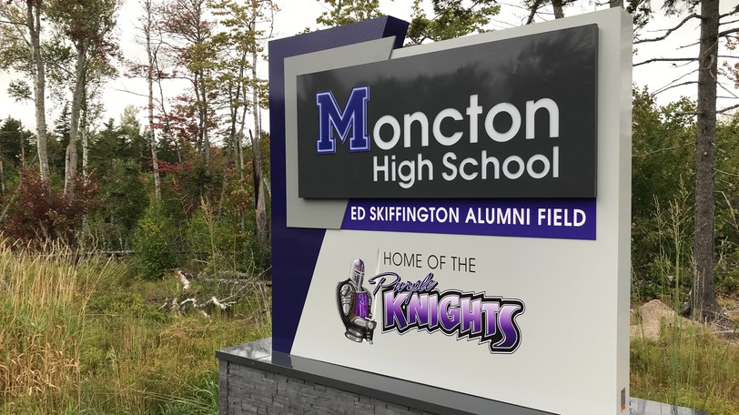 Moncton High School was closed to students on Friday.