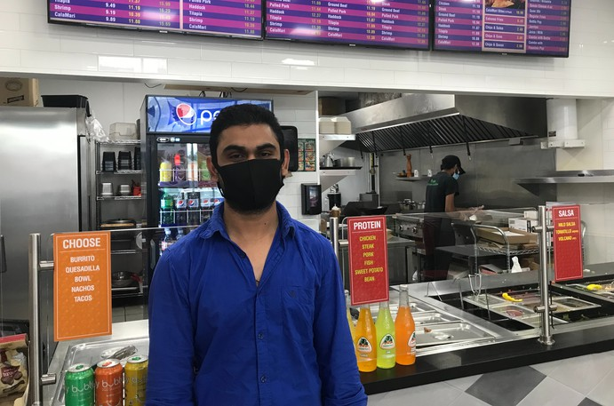Vipul Patal, who ownsCasabowl's Fresh Mexican Cantina on Elmwood Drive in Moncton, said he has not had many problems with customers demanding to be let in with showing proof of vaccination; rather, a lot of his clientele has just been staying away altogether.