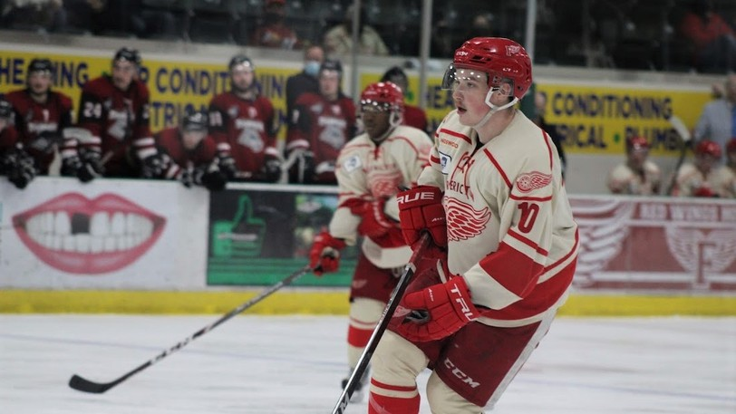 Nathan Kelly, right, and Sam Campbell are among the returning forwards for the Fredericton Junior Red Wings.