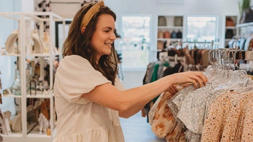 Kristan Cloney, owner of Spree Lifestyle Boutique in St. Stephen, is pictured here. The St. Stephen Area Chamber of Commerce has started a new campaign to encourage people to shop local.