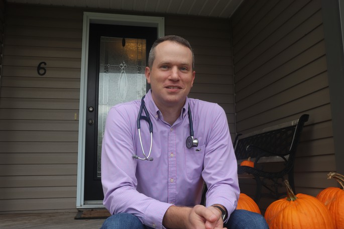 Dr. Michael Bone, said when he graduated medical school he decided to practice as a family doctor in Hampton because it reminded him of his hometown St. Stephen, and it was close to both he and his wife's family.