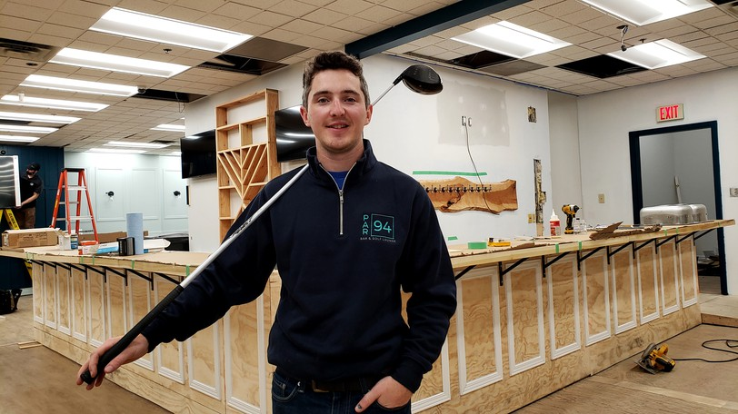 Cameron McNeil, owner and president of thePar 94 Bar and Golf Lounge at the corner ofQueen and Westmorland streets, said Friday he hopes to open by the end of October with four full TrackMan golf simulators that will let you play 270 different courses.