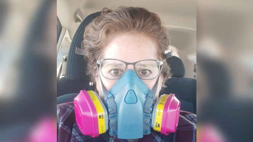 Shelley Petit hasgone into anaphylactic shock eight times, died in anambulance and been revived, hadto leave teaching after 17 years, and now must wear a gas mask any time she leaves the house.