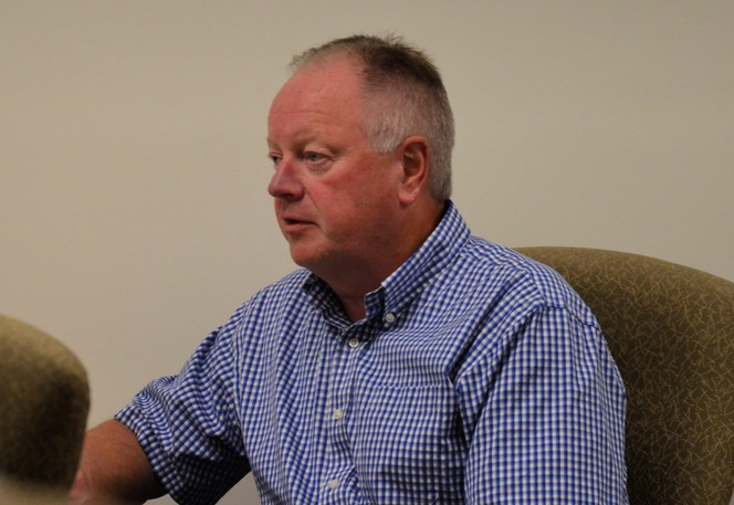 Wilson Bell, Greater Miramichi Regional Service Commission executive director and planning, speaks at a recent board of directors meeting. The board voted to table a proposed amendment to the planning review and adjustment committee bylaw until the Oct. 27 meeting.