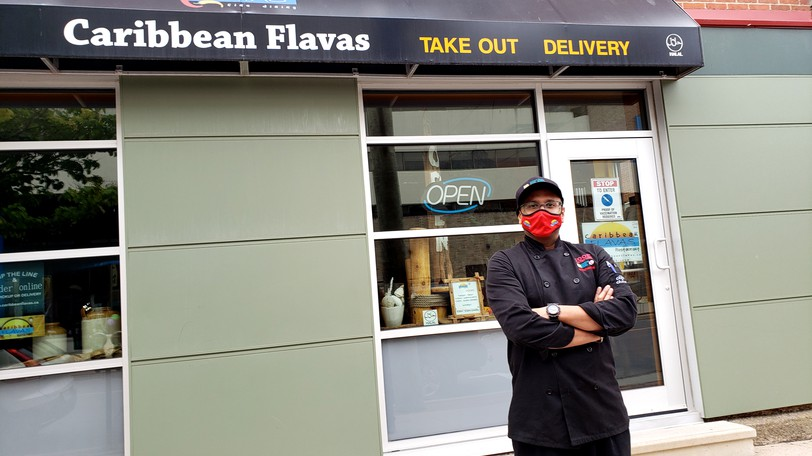 Naz Ali, owner of the Caribbean Flavas restaurant in downtownFredericton, says he had customers ask him to defy Public Health requirements to check for proof of vaccination, but he refused.