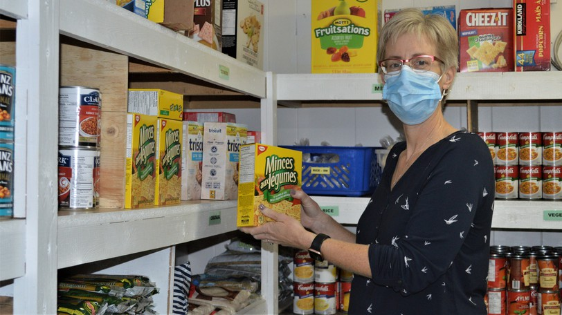 Buffy McLaughlin, manager of the Making a Difference Food Bank in Perth-Andover, is getting ready for Food Bank Donation Days from Oct. 12-14. Local residents are encouraged to drop food or cash donations at the food bank.