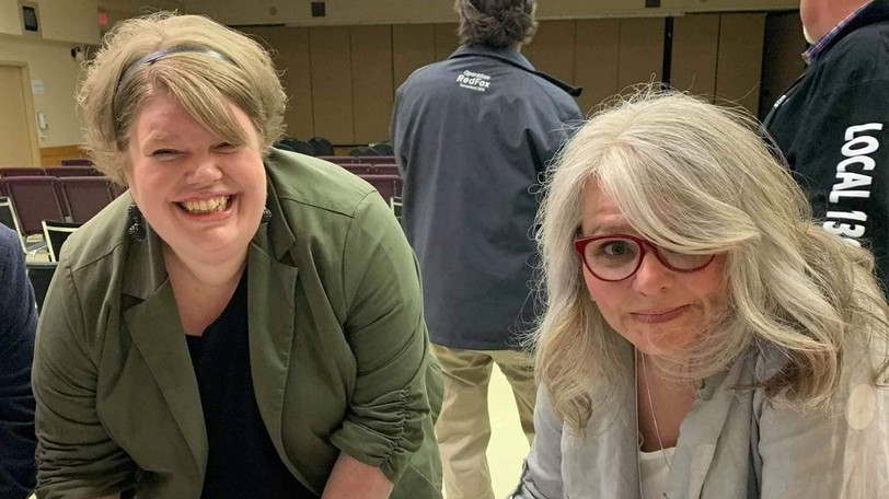 LPNs Nicole Tompkins, left andChristeneSmith signed a card in June 2019 indicating they were in favour of leaving CUPE 1252 for another union.