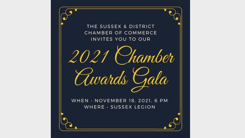 Nominations are being accepted until Oct. 12 for the Sussex and District Chamber Awards.
