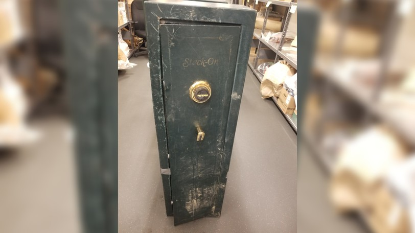 Members of the RCMP are looking for the rightful owner of this safe.