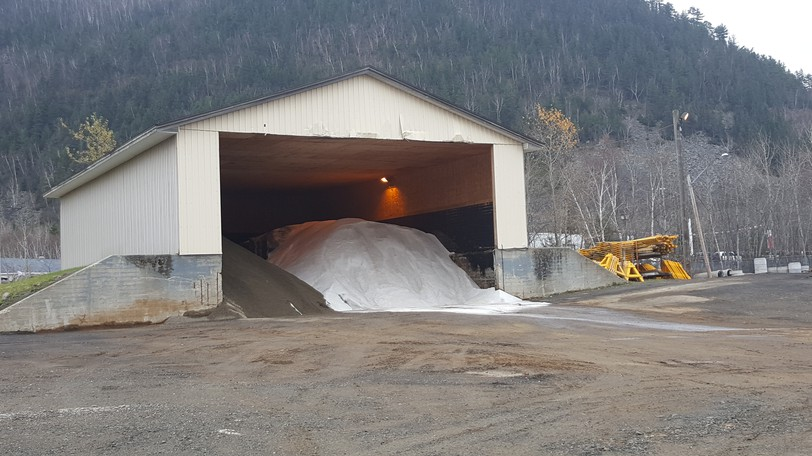 Campbellton's salt shed is shown in this filephoto. City council awarded its salt contract for the upcoming winter on Oct. 4, subject to ratification at the next regular council meeting,and also approved contracts for private contractors to remove snow on certain street and sidewalk routes.
