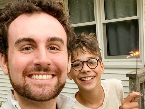 Big Brothers Big Sisters of Saint John will hold its annual Big Brothers Big Sisters' 2021 Inspire Mentoring Awards virtually this year and recognize former recipients of the awards. Pictured here is Ben O'Neil, a big brother with the charity, and Taeyo Smith, a little brother.