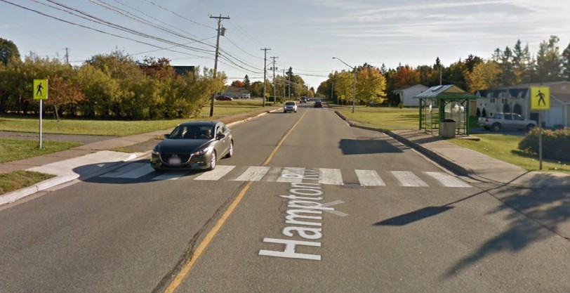 The Town of Quispamsis has requested that the Department of Transportation and Infrastructure install a rapid-flash beacon on a Hampton Road intersection near the Kennebecasis Baptist Church and the high school, as well as reduce the speed limit because it is risky for high school students to cross.