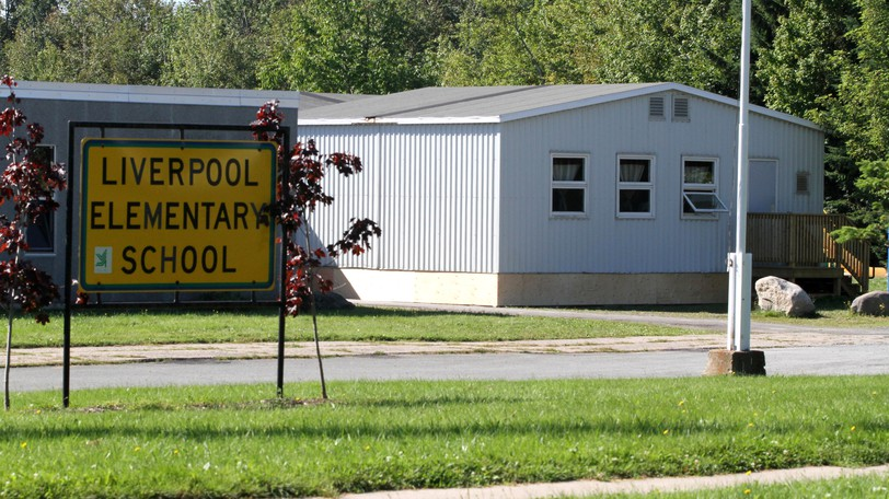 Liverpool Elementary School in Fredericton, seen here in a file photo, and Hartland Community School are closed Wednesdaybecause of a positive case of COVID-19 at each school.