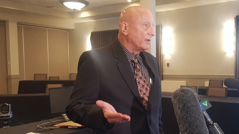 During Wednesday's hearing at the coroner's inquest into the death of Rodney Levi, presiding coroner John Evans, pictured, asked an RCMP tactical expert if more time needs to be spent training officers by having them partner with a mentor during calls after they're hired.