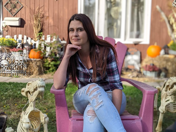 Amanda Crandall in Riverview is frustrated with new provincial measures that prevent her from visiting with her relatives on Thanksgiving Day.
