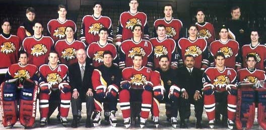 The team photo of the 1996-97 Moncton Wildcats.