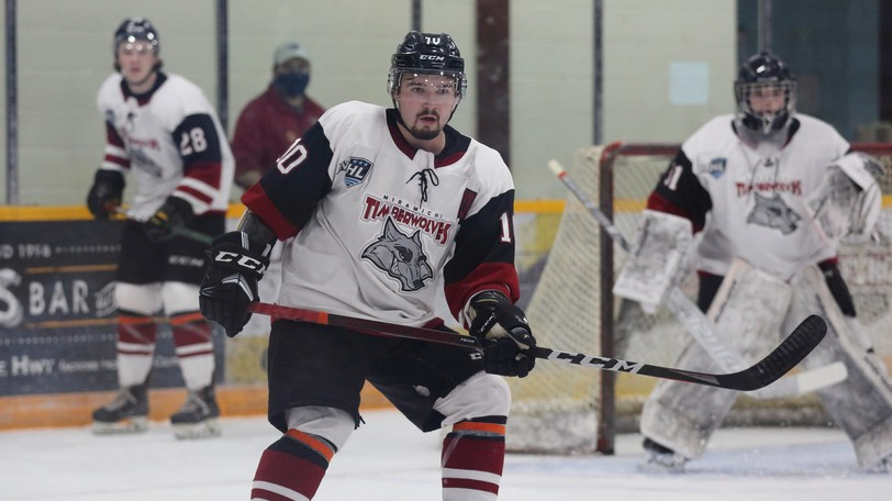 Miramichi Timberwolves defenceman Jérémie Hébert was named one of the Maritime Junior Hockey League's players of the week for the week ending Oct. 3.