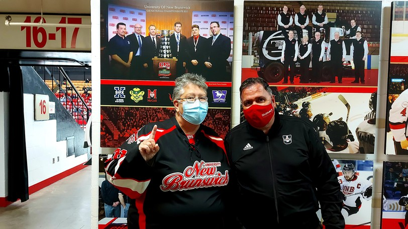 Kelly and Gary Morton, who haven't missed a UNB men's hockey game in 18 seasons, were excited to see the Reds play their first meaningful game in 579 days on Wednesday, a 3-0 victory over the Universite de Moncton Aigles Bleus in the AUS season opener before 1,743 fans at the Aitken Centre.