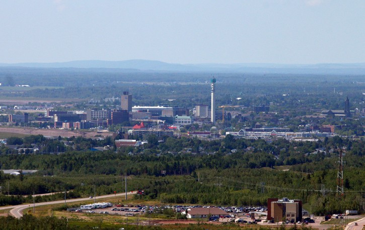The cities of Moncton and Dieppe are seen in this 2017 photo taken from a helicopter.