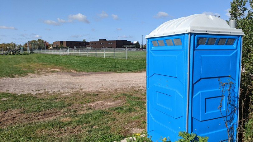 A man was arrested on a ball field behind Evergreen Park School in Moncton Thursday night.