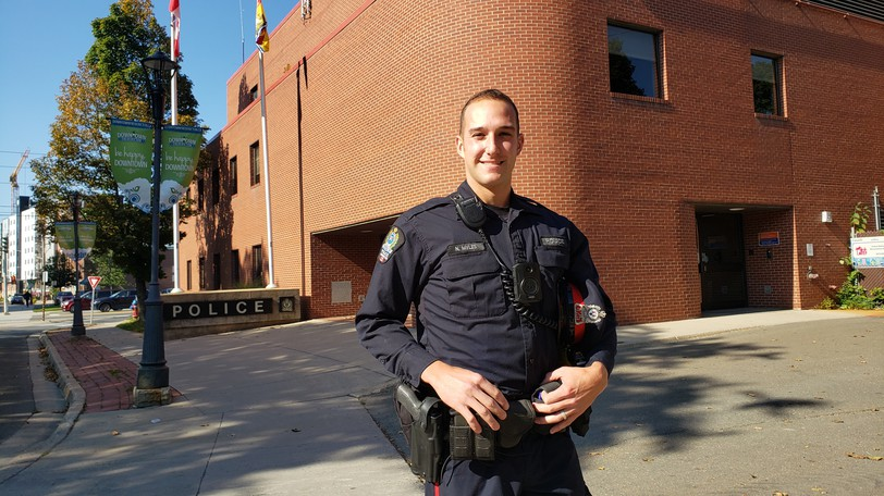 Fredericton Police Force Const. Nathan Myles recalls how he saved a three-month-old baby that had stopped breathing during a late-night rescue in July of this year.