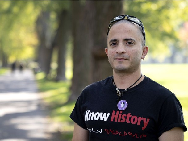 MONTREAL, QUE.: October 8, 2021 - Dr. Samir Shaheen-Hussain is a pediatric emergency physician in Montreal and author of a book on anti-Indigenous systemic racism in Canadian health care. He is seen in Montreal, on Friday, Oct. 8, 2021.